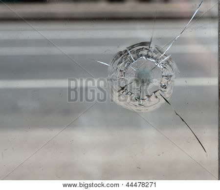 Crack In Glass.