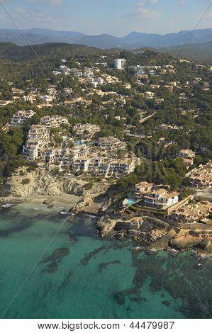 Vista aérea de la costa de Mallorca