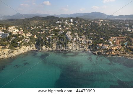 Aereal View Of Mallorcas Coast.