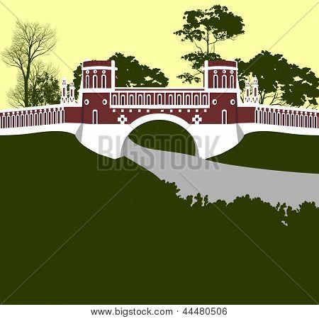 Moscow. Tsaritsino Palace. Bridge