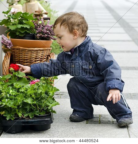 Child And Flower Pot
