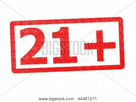 21+ Rubber Stamp