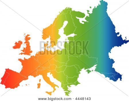Europe  Color Vector Map