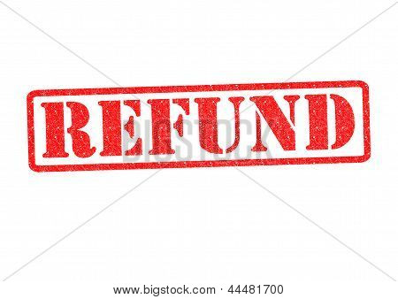 Refund Rubber Stamp