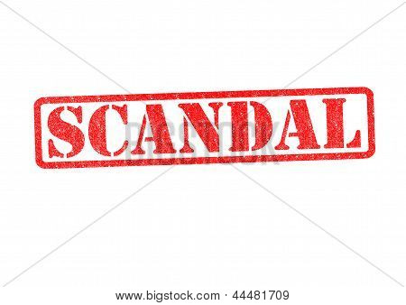 Scandal Rubber Stamp