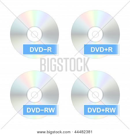 Dvd Disk Icons. Part Two. Vector Illustration