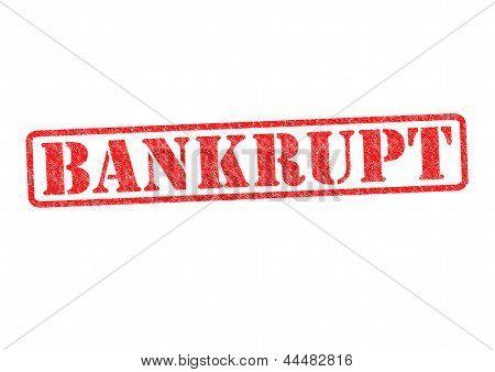 Bankrupt Rubber Stamp