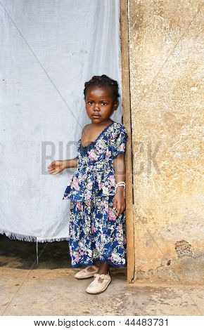 Serious Little African Girl