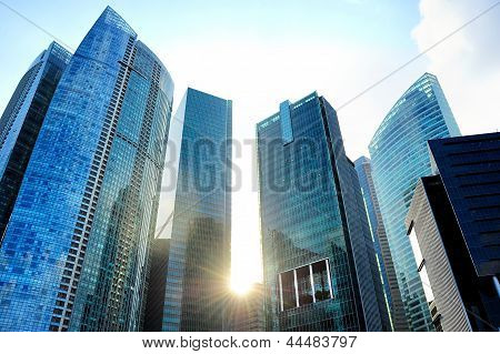 Skyscrapers At Sunset