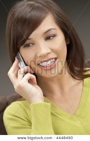 Beautiful Oriental Phone Call