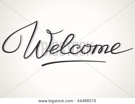 Welcome lettering