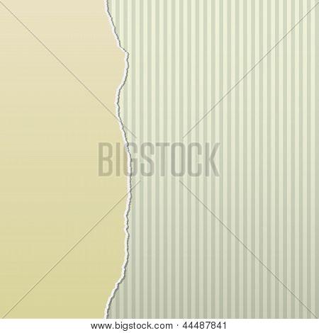 Beige Torn Paper On Stripes Side
