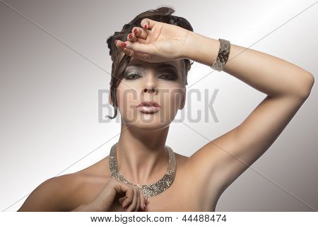 Fashion Portrait Of Girl With Hairstyle