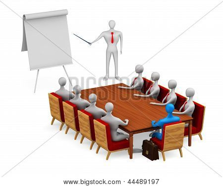 Group Of Persons On The Meeting