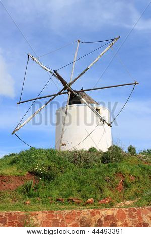 Old Windmill In Algarve, Portugal