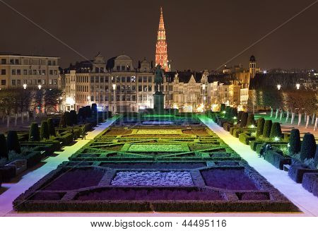 View From Mont Des Arts In Brussels