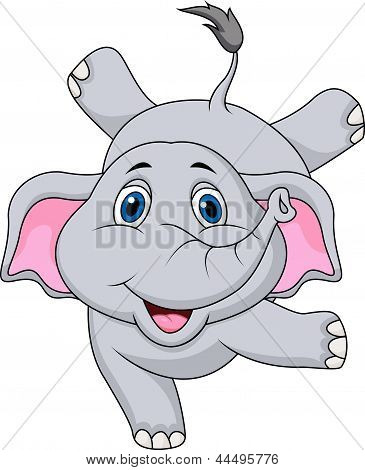 Cute elephant cartoon circus