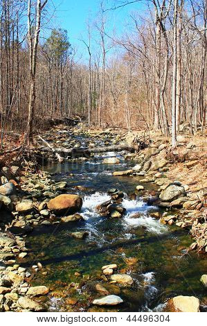 River at Whiteoak Falls, Virginia
