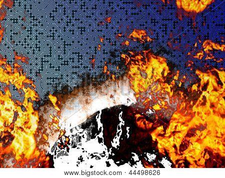 Burning Circuit Board