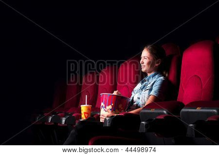 woman in cinema