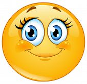picture of emoticon  - Cute eyelashes emoticon - JPG