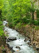 stock photo of tehran  - Forest stream running over rocks in Tehran Iran - JPG