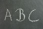A, B, C On A Blackboard