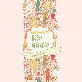 picture of orange frog  - Happy birthday card - JPG