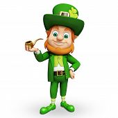 picture of leprechaun  - 3d rendered illustration of Leprechaun for st patrick - JPG