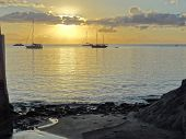Coastal Evening Scenery At Guadeloupe