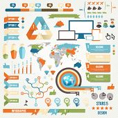 stock photo of earth structure  - Infographic Elements and Communication Concept - JPG