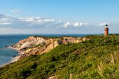 stock photo of martha  - Gay Head Light and Aquinnah Cliffs - JPG