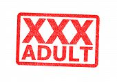 foto of pornographic  - XXX Adult Rubber Stamp over a white background - JPG