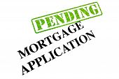 stock photo of deed  - Mortgage Application is currently stamped as PENDING - JPG