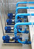 image of sewage  - water pumping station  - JPG