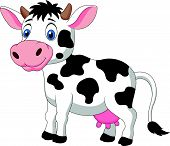 foto of moo-cow  - Vector illustration of Cute cow cartoon isolated on white background - JPG