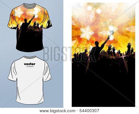T-shirts. Vector design