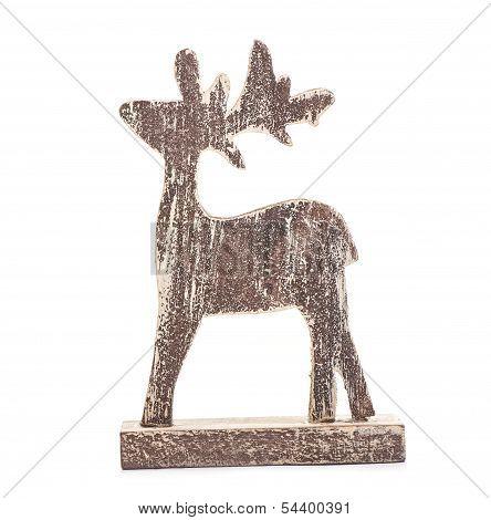 Christmas deer isolated