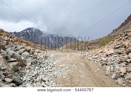 Tosor pass road. Tien Shan mountains
