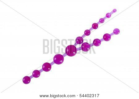 Purple Anal Beads - Sex Toy For Triple Penetration
