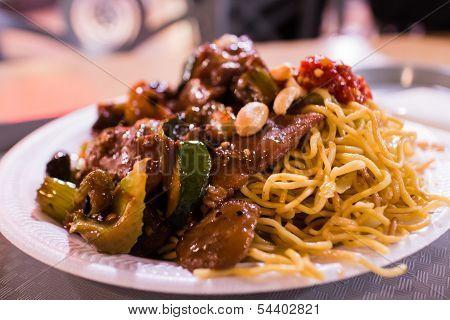 Chow Mein And Garlic Pork