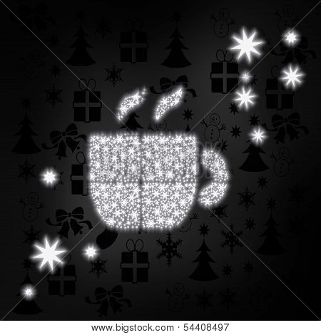 Noble Coffee Symbol With Stars