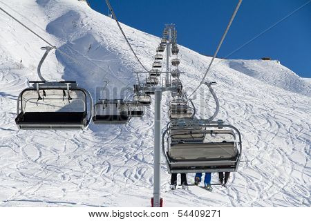 Chairlift on a ski resort