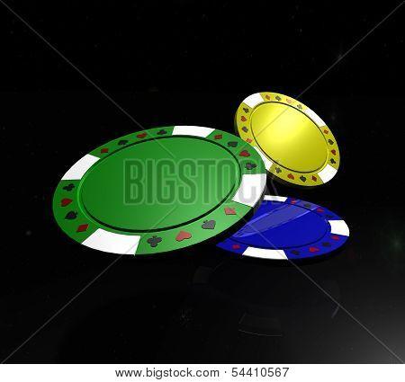 Motley Poker Chips