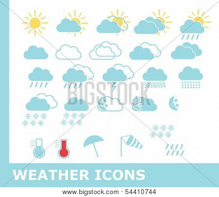 Weather icons, vector