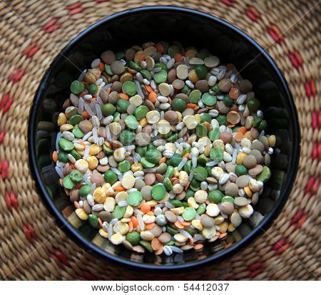 A Bowl Of Groats And Beans