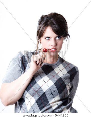 Woman cherry