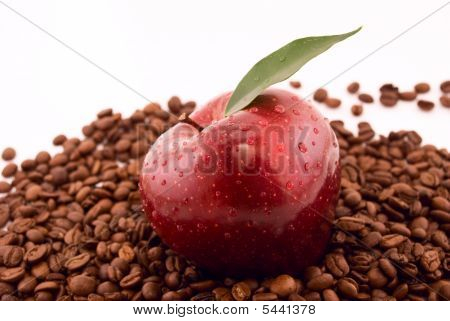 apple and coffee