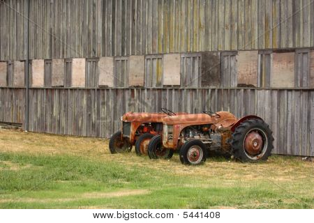 Two Old Tractors