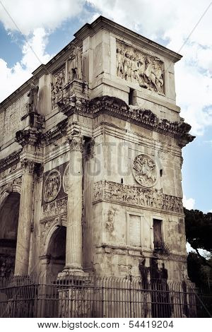 The Arch Of Titus At The Roman Forum, Rome